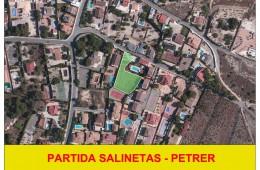 Parcela urbana en partida Salinetas. Petrer